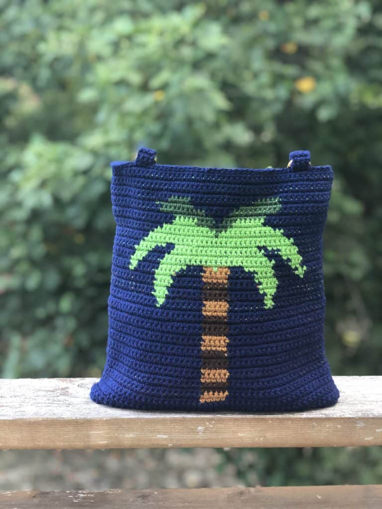 Palm Tree Tapestry Bag by Creations by Courtney