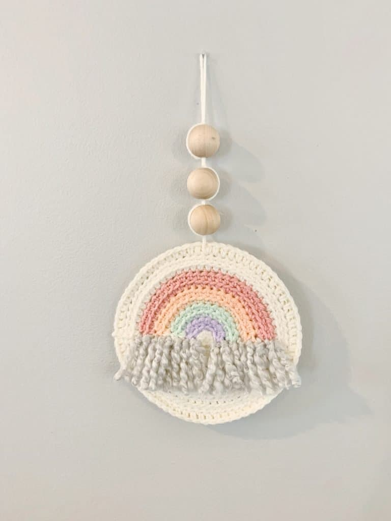 Rainbow Dreams Wall Hanger by Stuck on You Crochet