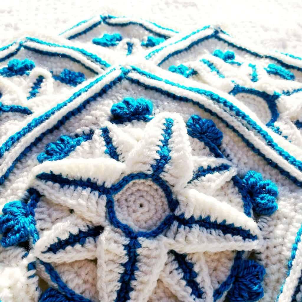 Sapphire Star Granny Square by Crochet Cloudberry