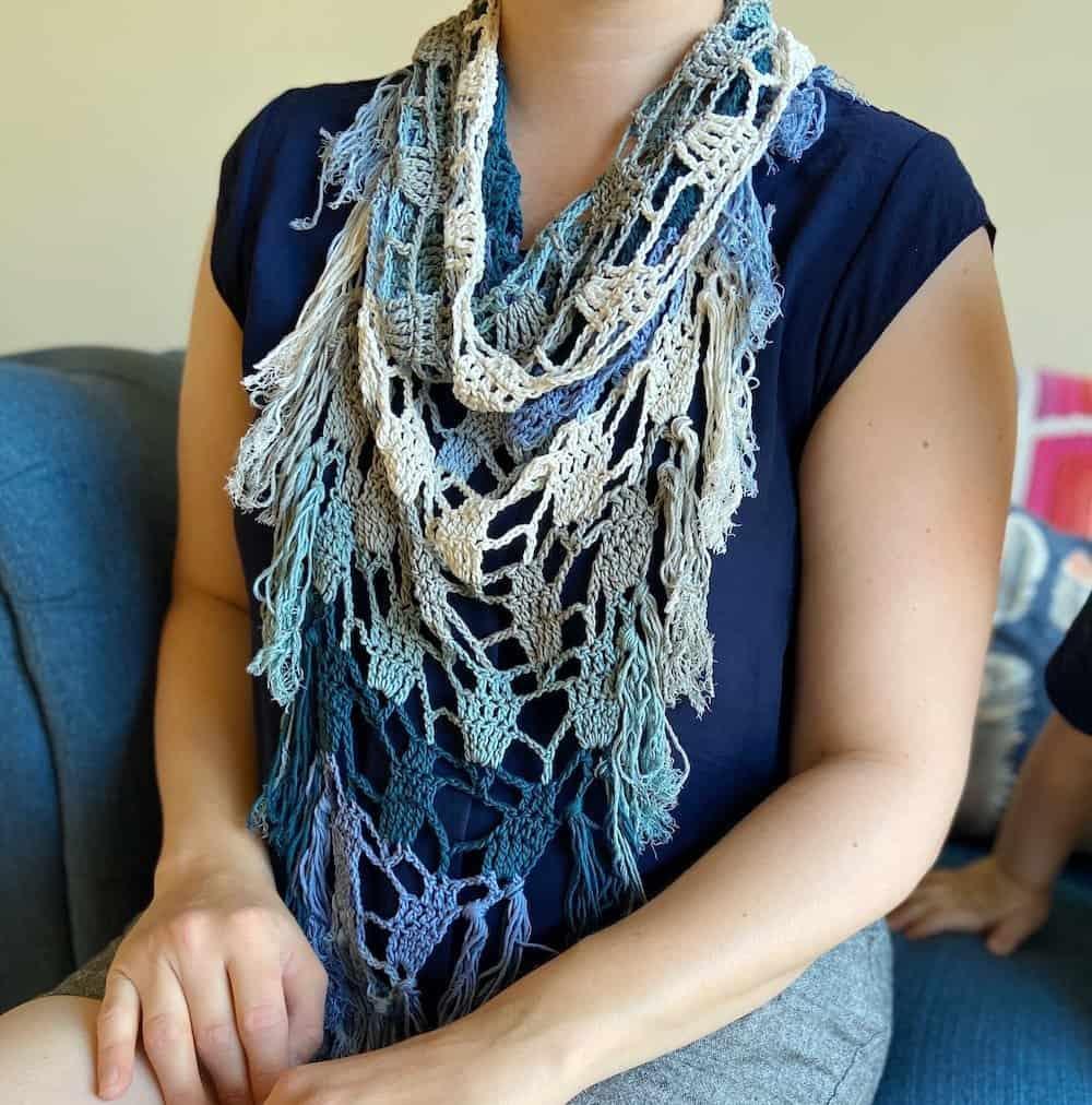 Seaglass Bandana Scarf by Hanjan Crochet