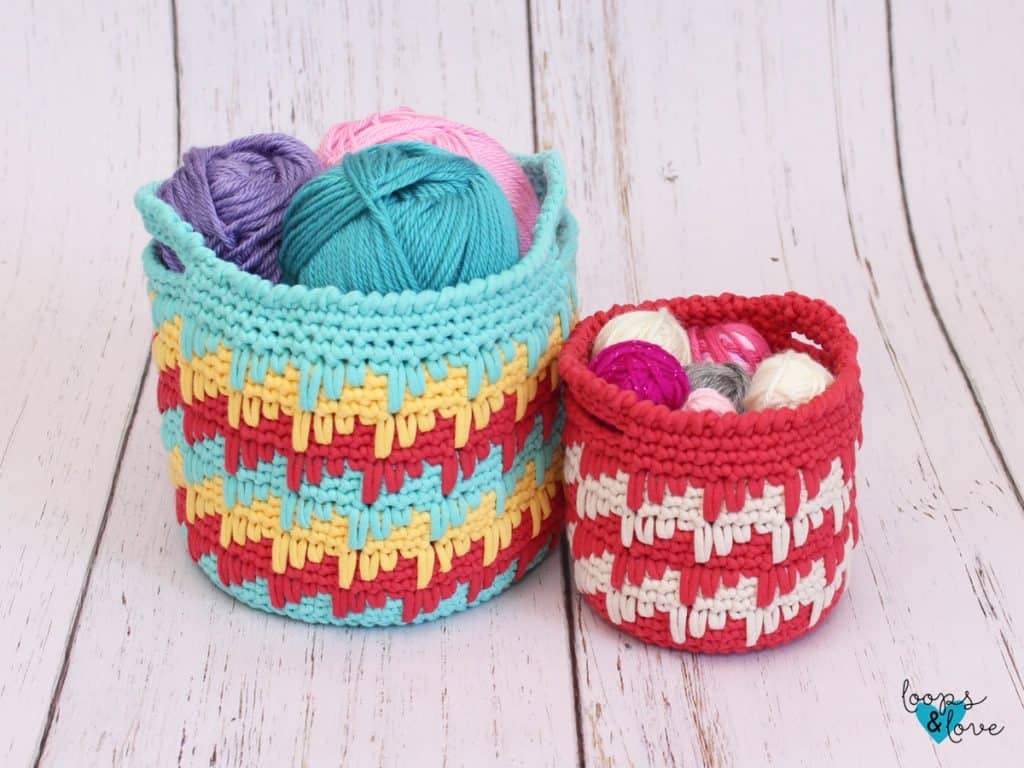 Spike Stitch Baskets by Loops 'n' Love Crochet