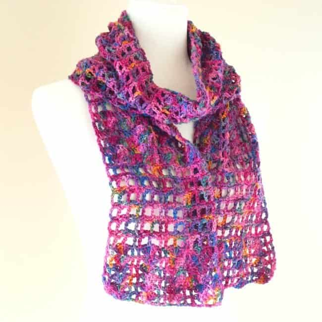Stashbusting Lace Scarf by Crafting Each Day