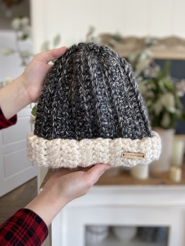 Two Toned Beanie by E'Claire Makery