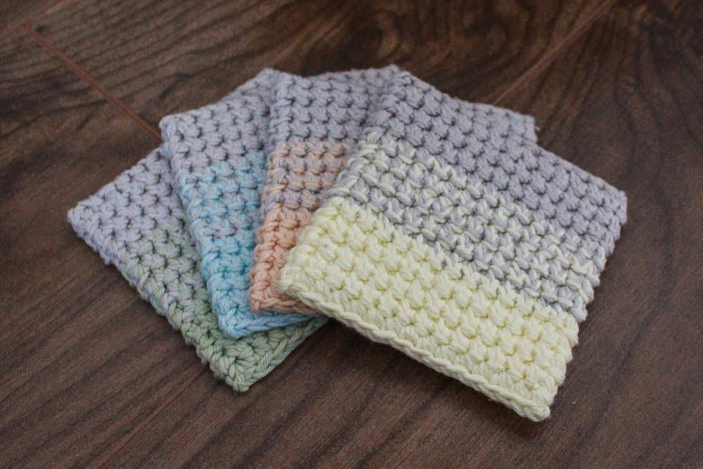 Ombre Crochet Coasters