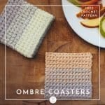 Ombre Crochet Coasters (with fruit plate)