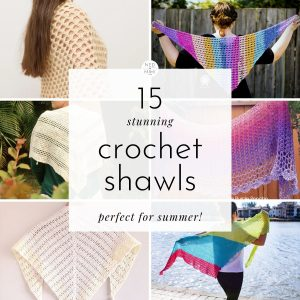 Crochet Shawls (collage)