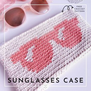Crochet Sunglasses Case with glasses