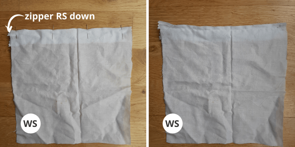 Fabric Pouch Liner - Step 1