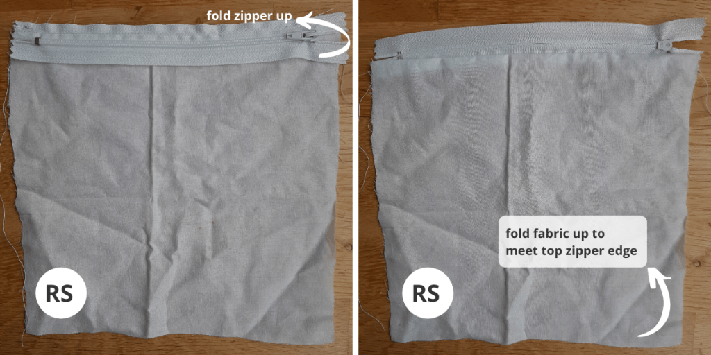 Fabric Pouch Liner - Step 2