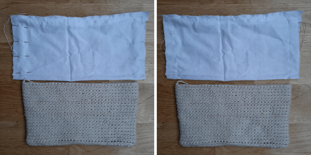 Fabric Pouch Liner - Step 4