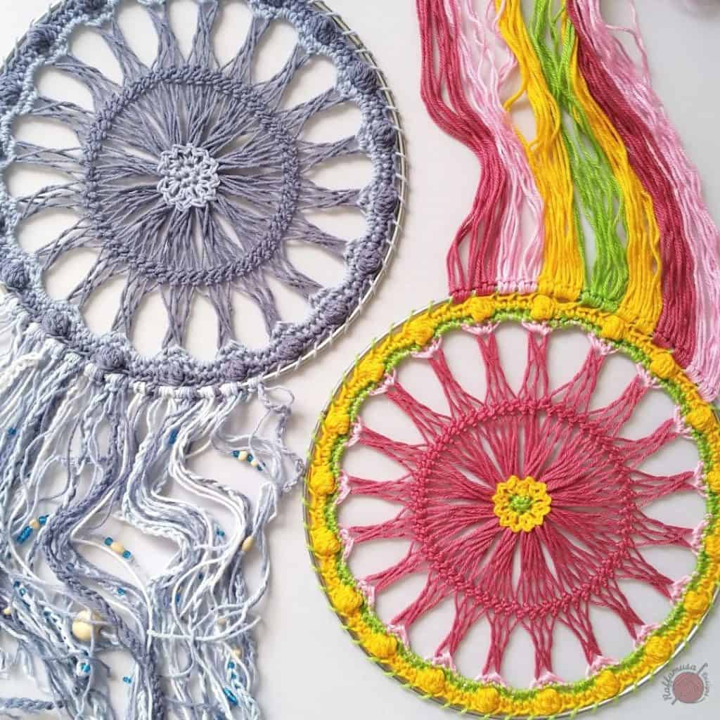 Crochet Hairpin Lace Dreamcatcher by Raffamusa Designs