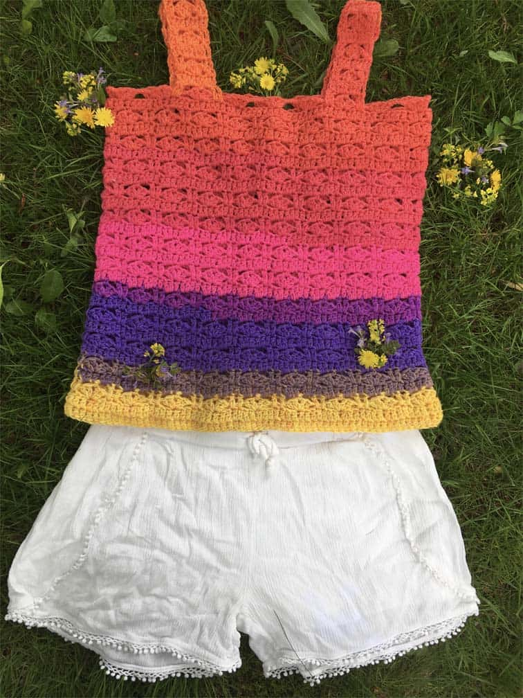 Summer of Love Tank Top by Jo's Crafty Hook