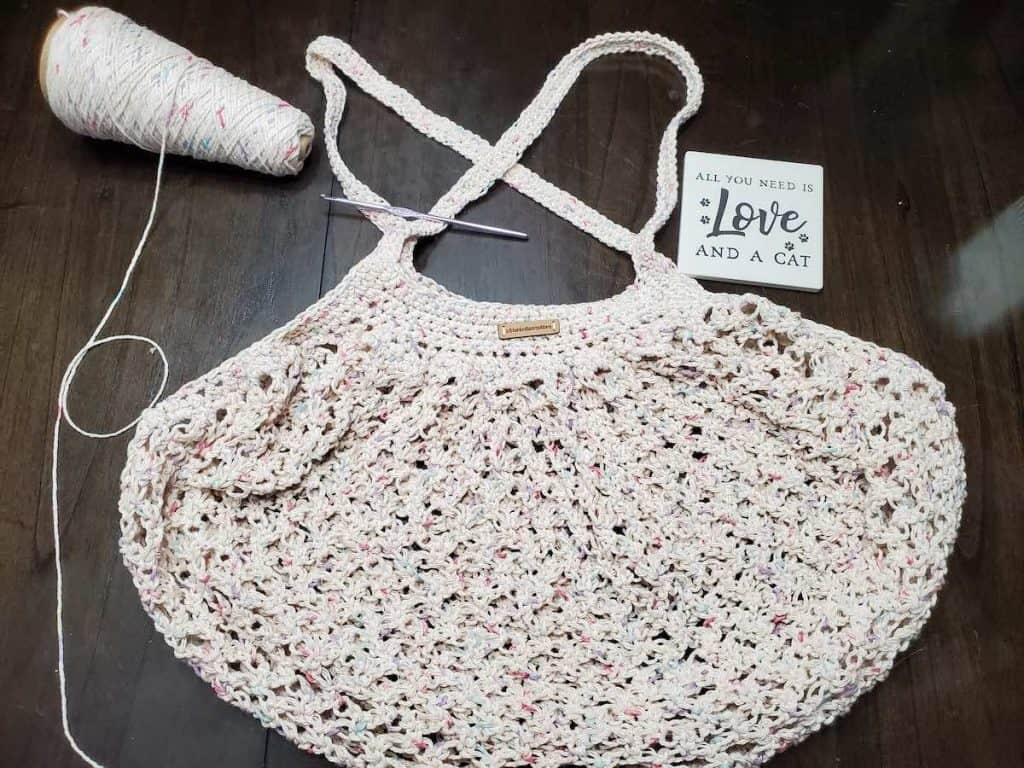 Crochet Market Bag @kittenknitscreations