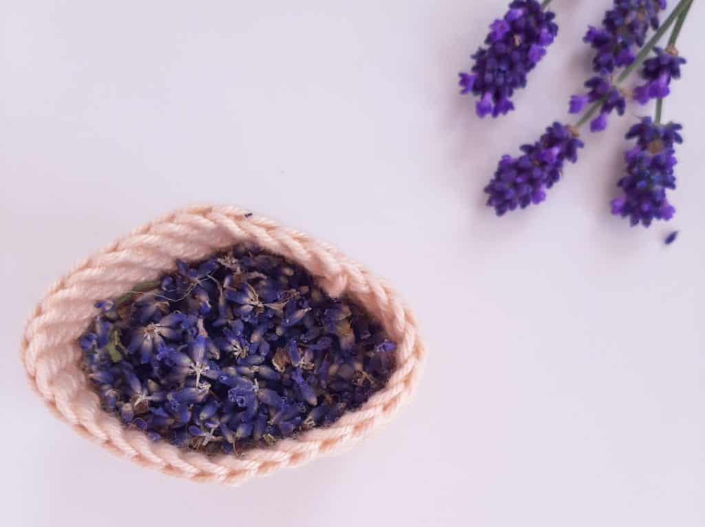 Crochet Bag with Lavender leaves