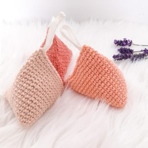 Three Crochet Lavender Bags