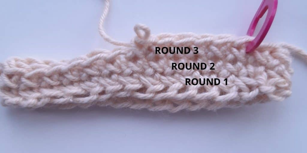 Cross Stitch Single Crochet (3 rounds)