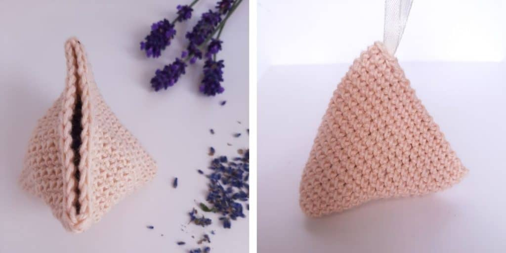 Crochet Lavender Bag (open)