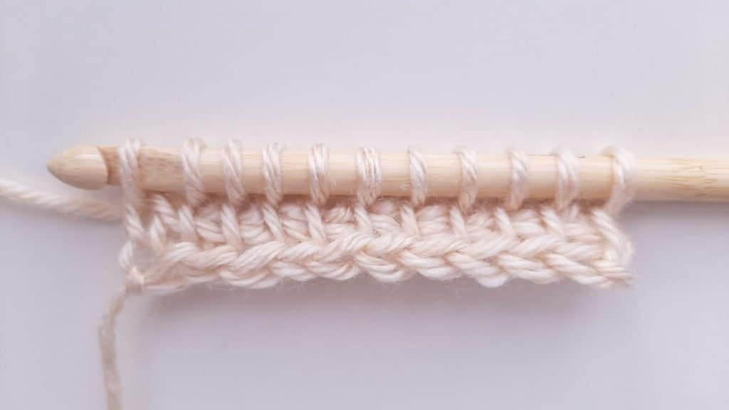 Tunisian Crochet Forward Pass