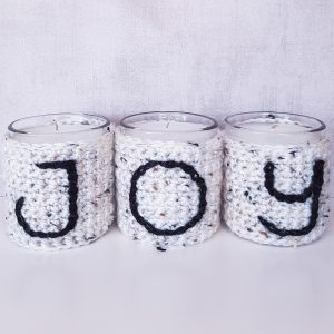 Christmas Crochet Gift - Candle Holders