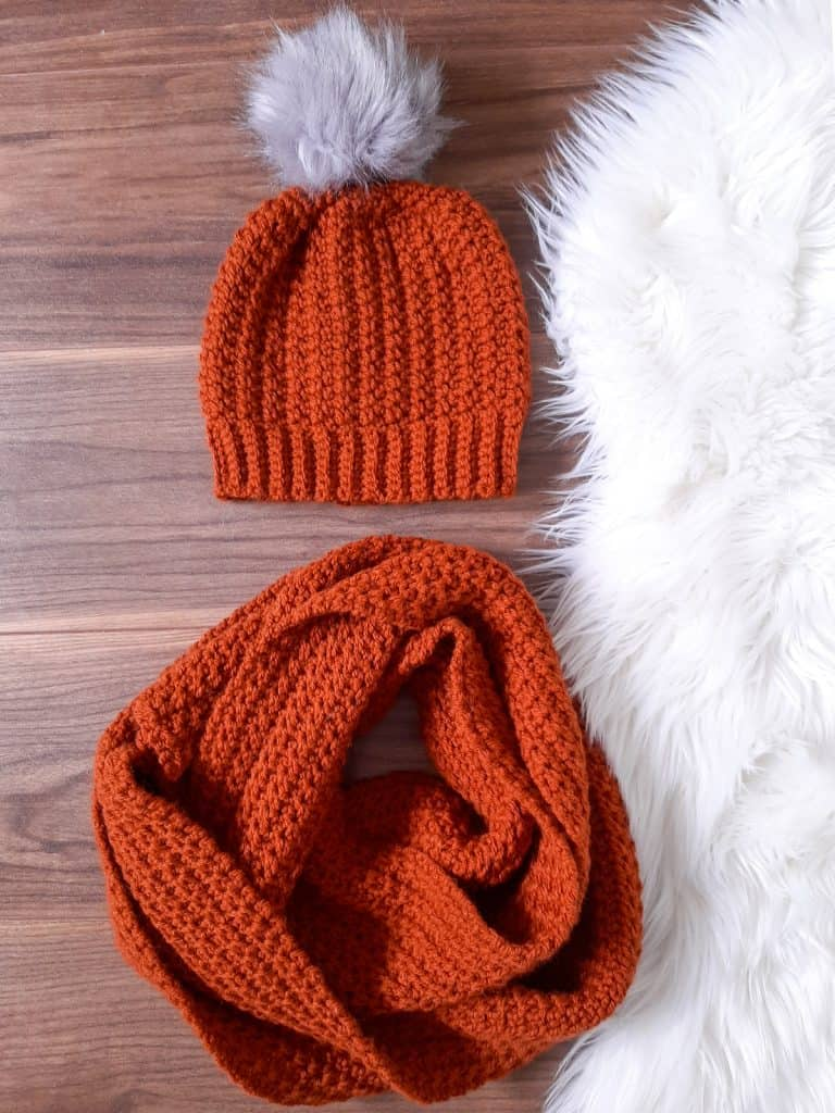 Ribbed Crochet Hat & Scarf