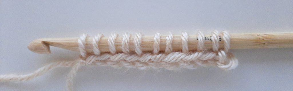 Tunisian crochet cast on