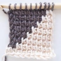 Tunisian Crochet Color Change swatch