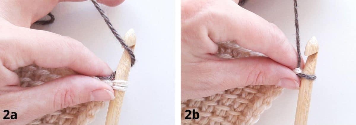 Tunisian Crochet: Join as you go Step 2