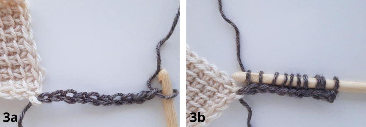 Tunisian Crochet: Join as you go Step 3