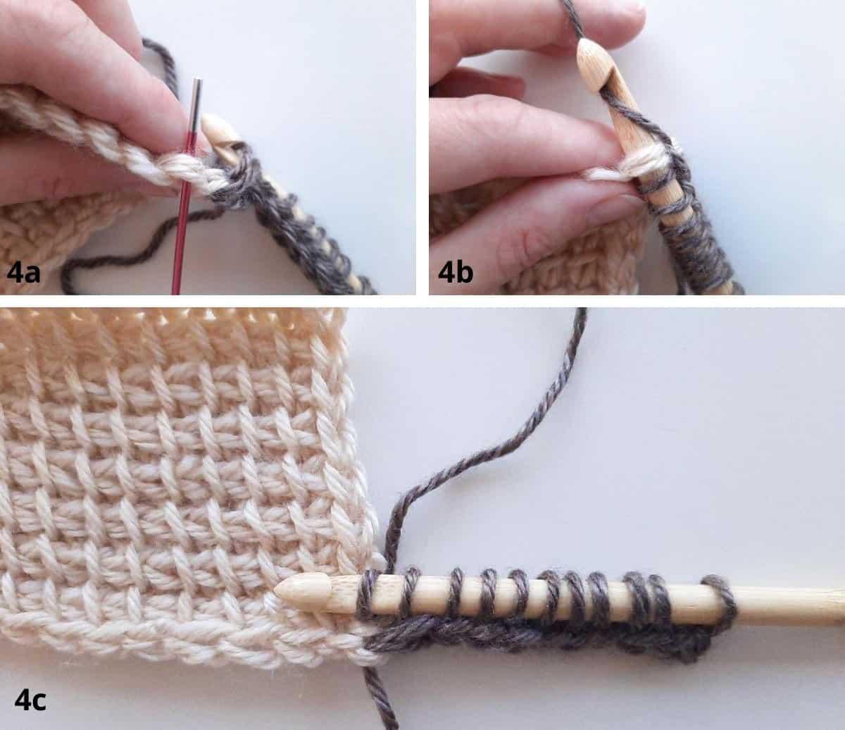 Tunisian Crochet: Join as you go Step 4