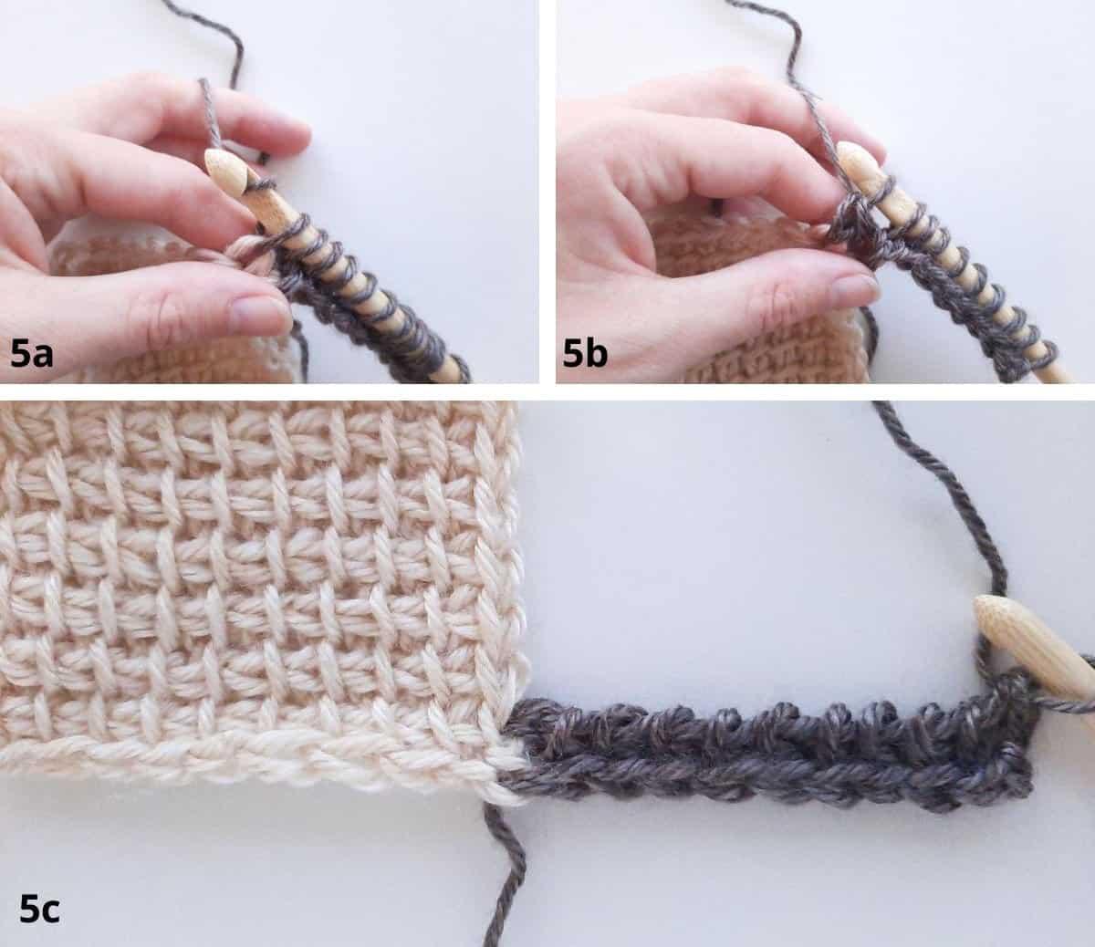 Tunisian Crochet: Join as you go Step 5