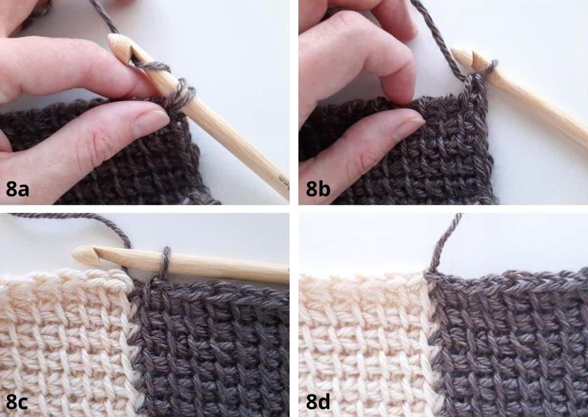 Tunisian Crochet: Join as you go Step 8