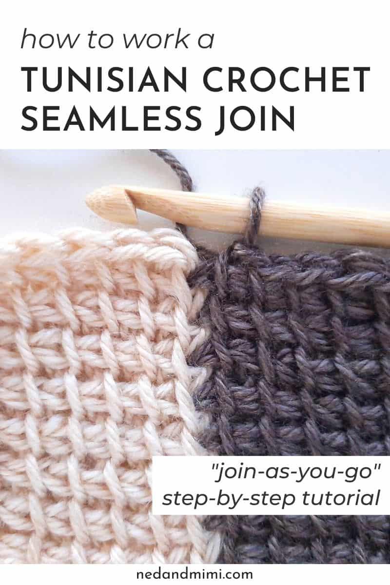 Tunisian Crochet join-as-you-go