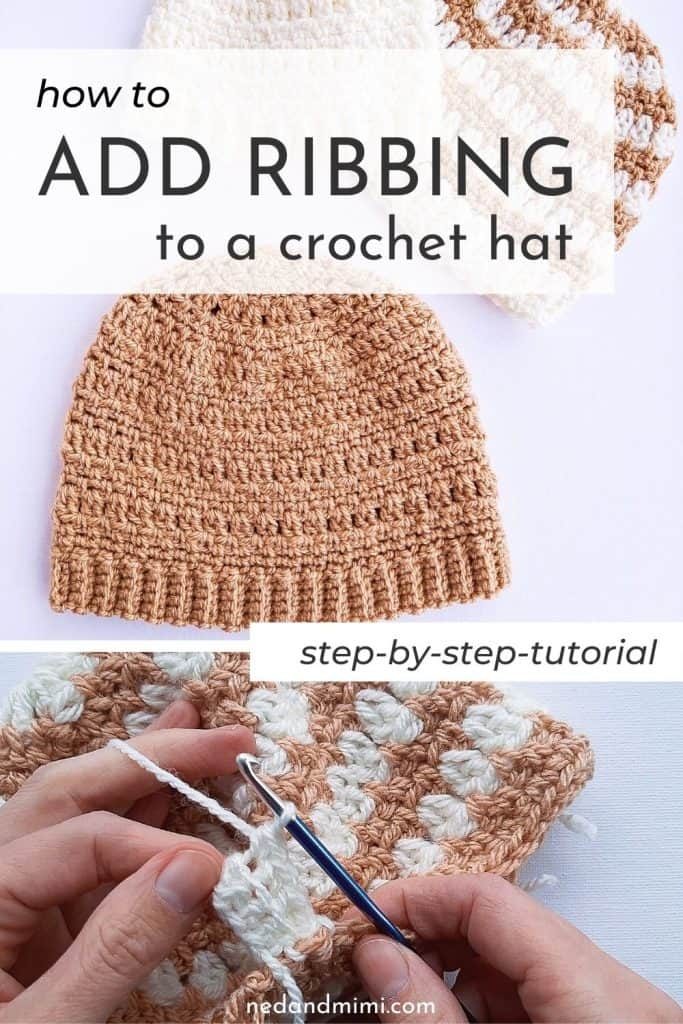 How to add ribbing to a crochet hat