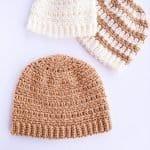 Jasmine Beanie - Crochet Pattern (3 hats)