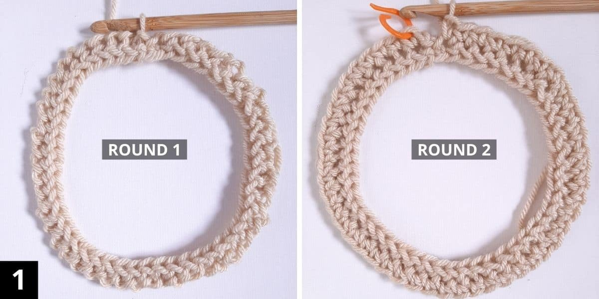 How to Crochet the Diagonal Chevron Stitch (step 1)