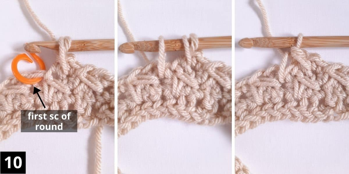 How to Crochet the Diagonal Chevron Stitch - step 10