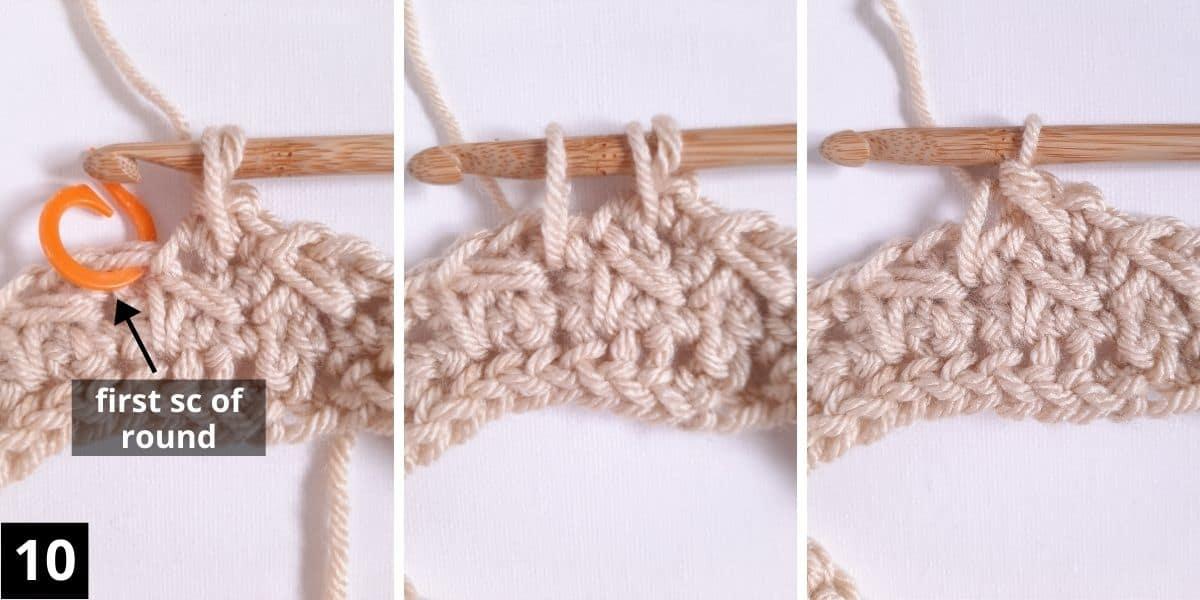 How to Crochet the Diagonal Chevron Stitch - step 10