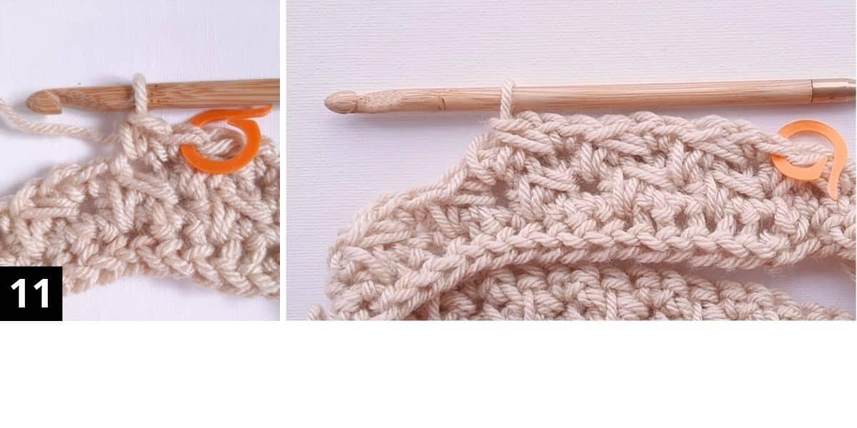 How to Crochet the Diagonal Chevron Stitch - step 11