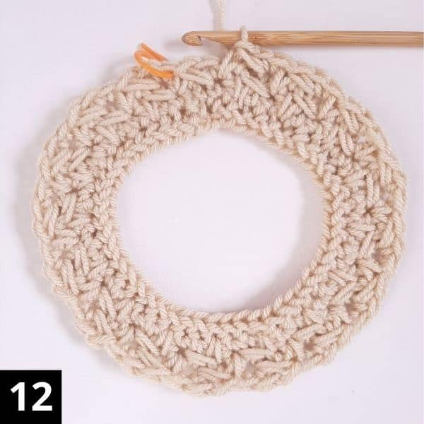 How to Crochet the Diagonal Chevron Stitch - step 12