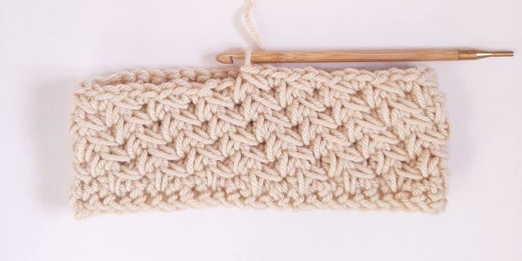 Crochet Diagonal Chevron Stitch Pattern