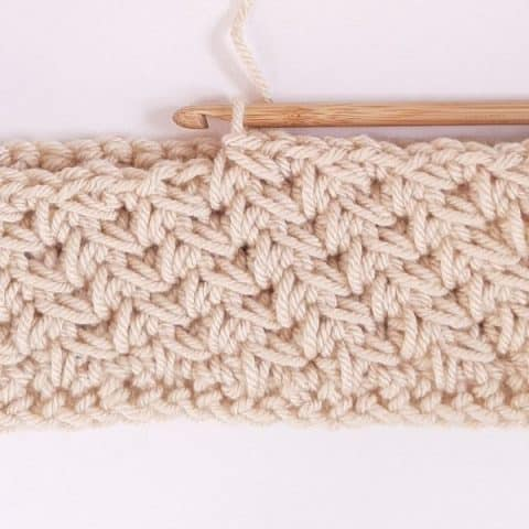 Crochet Diagonal Chevron Stitch Pattern