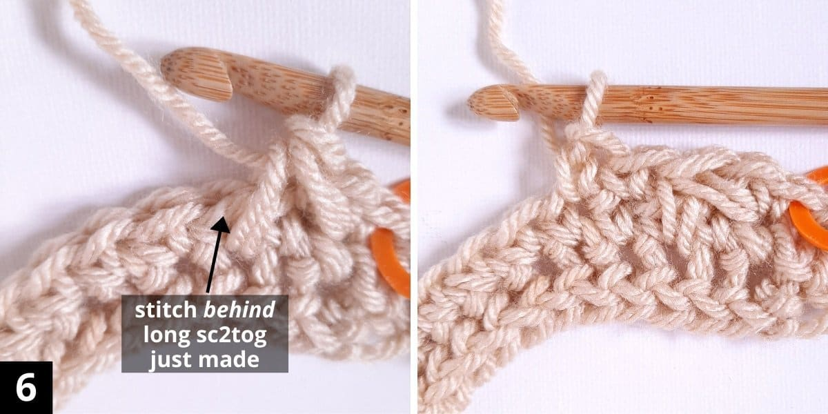 How to Crochet the Diagonal Chevron Stitch - step 6
