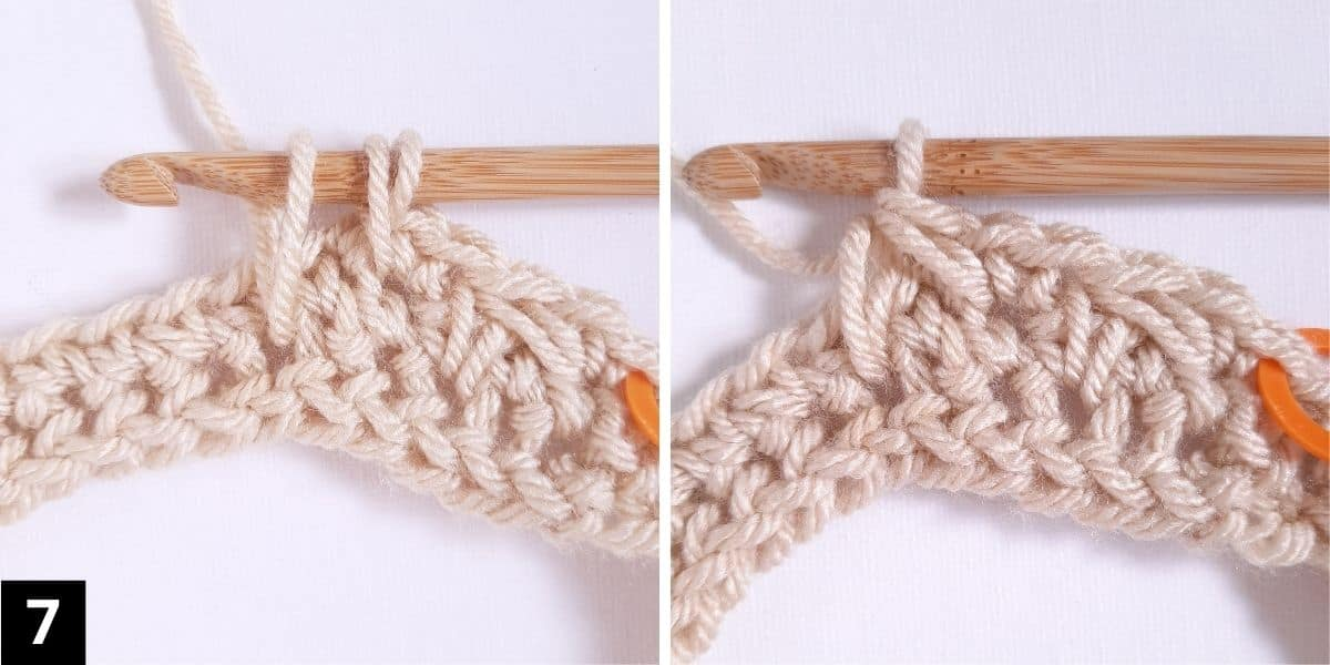 How to Crochet the Diagonal Chevron Stitch - step 7