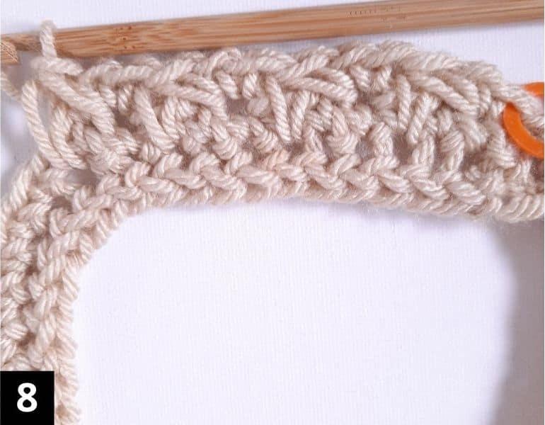 How to Crochet the Diagonal Chevron Stitch - step 8