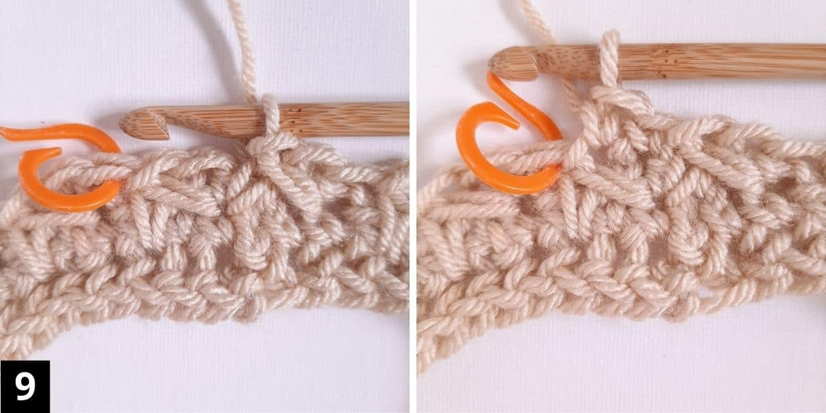 How to Crochet the Diagonal Chevron Stitch - step 9