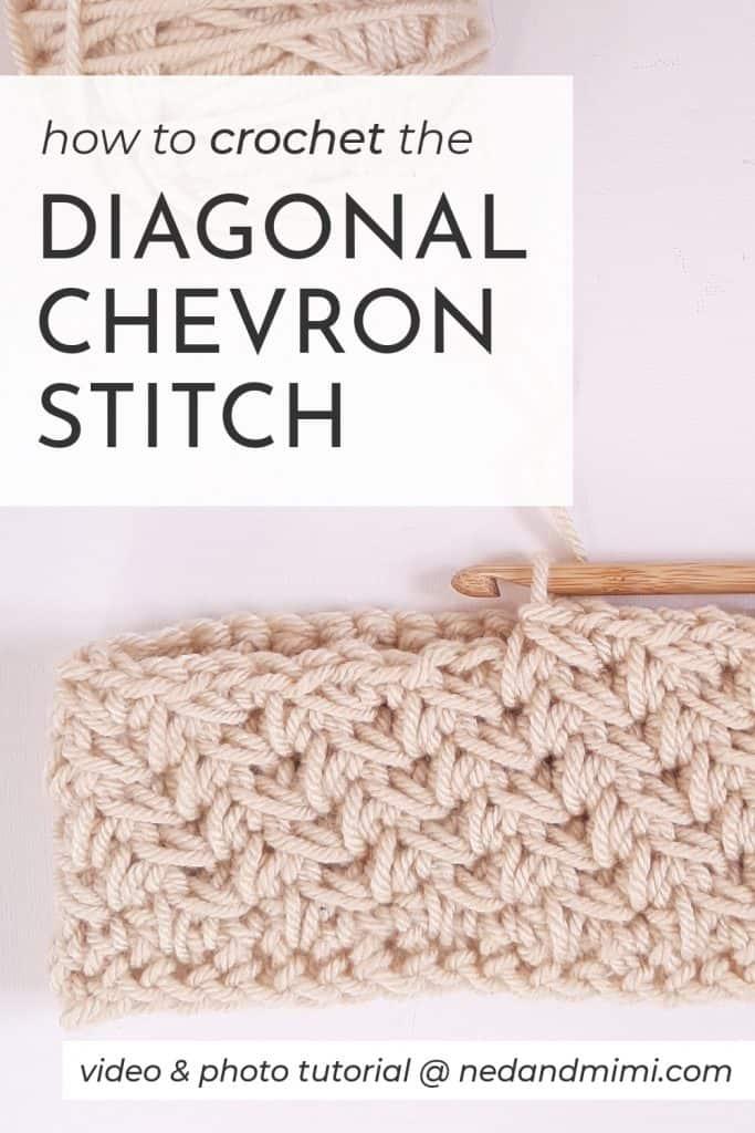 How to Crochet the Diagonal Chevron Stitch