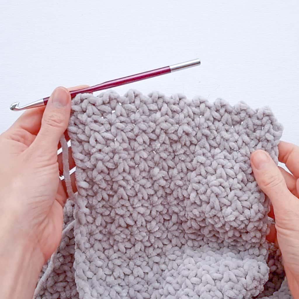 Chunky Crochet Infinity Scarf (in progress)