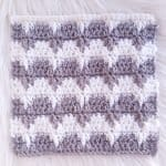 Winter Waves Crochet Blanket Square / Ned and Mimi