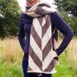Herringbone Tunisian Crochet Wrap / Ned & Mimi