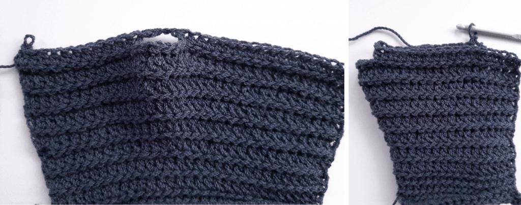 Crochet Fingerless Gloves - step 2